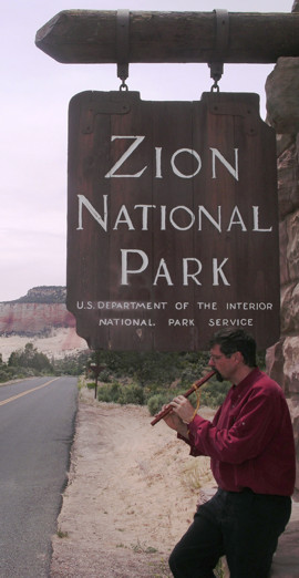 Clint Goss at the East Entrance to Zion